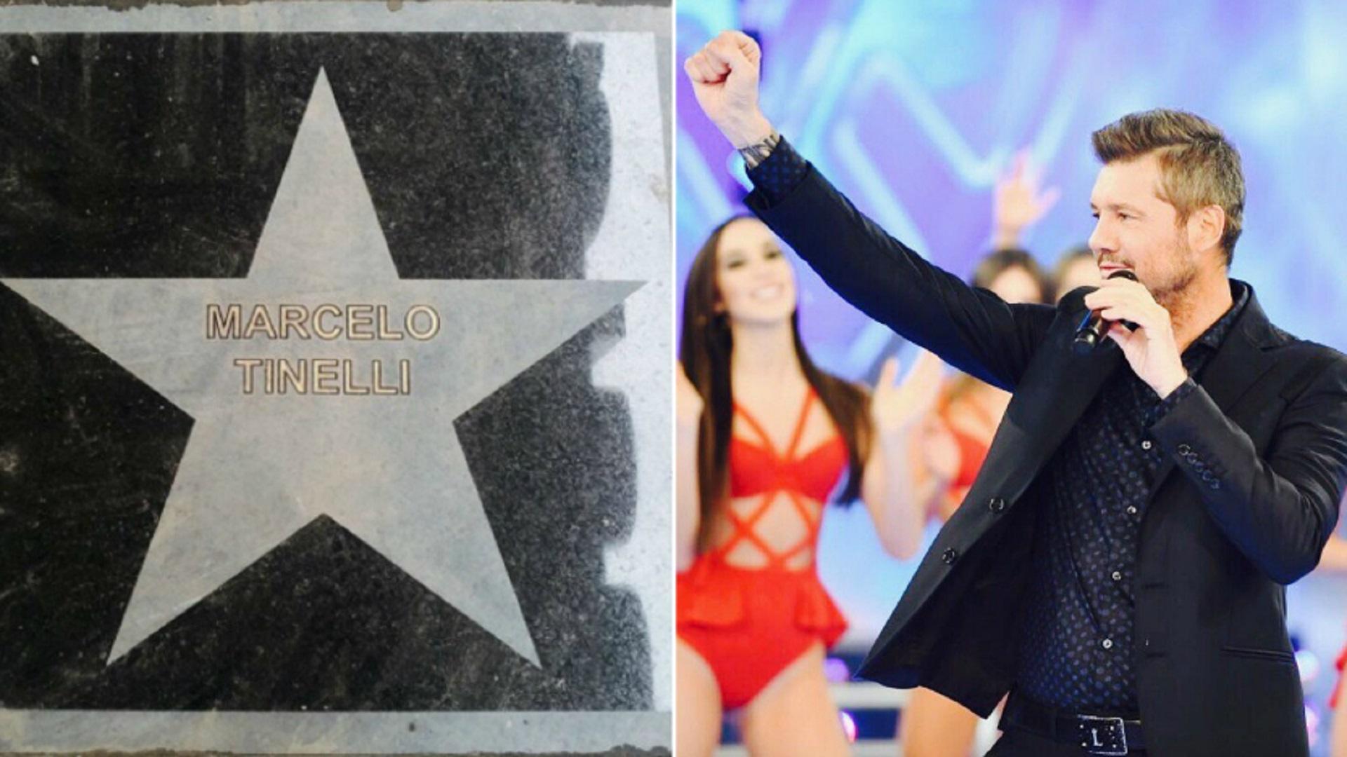 Marcelo Tinelli tiene plasmada su estrella sobre la avenida Corrientes al 1300. El conductor fue reconocido por el Gobierno de la Ciudad, como Antonio Gasalla y Moria Casán
