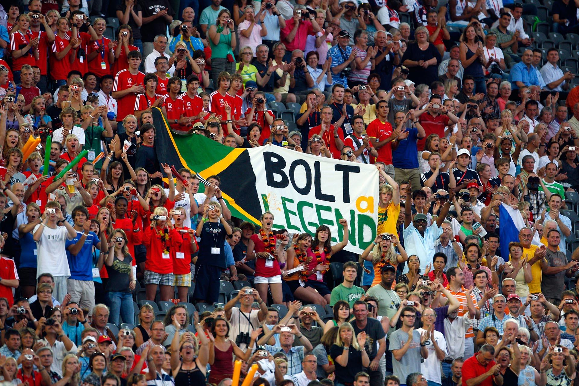 Los fanáticos alemanes ya calificaban aBolt como una leyenda(Getty Images)