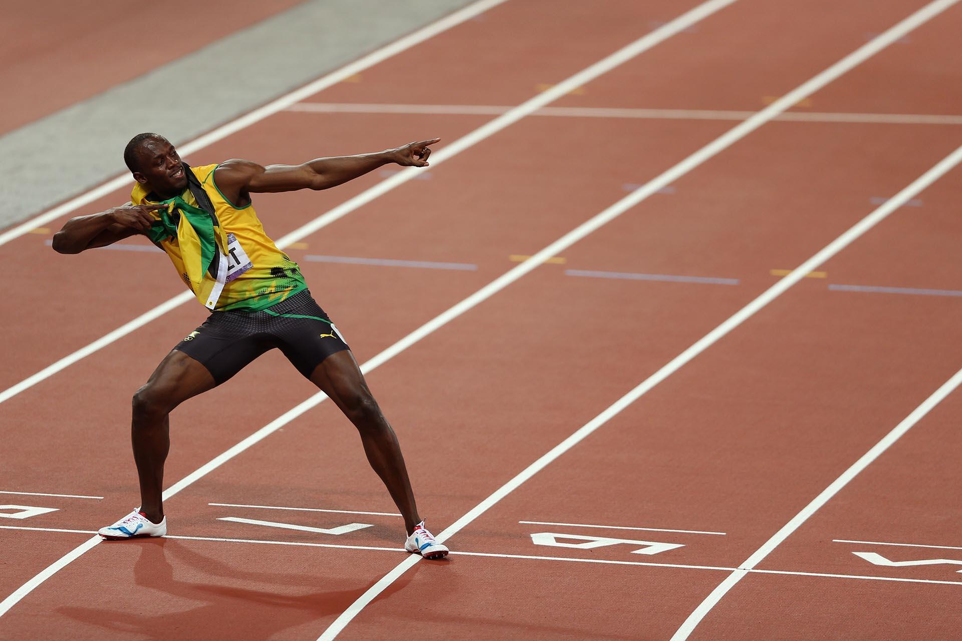 TambiénUsain Bolt se quedó con el primer puesto en los 200 metros de los Juegos Olímpicos de Londresy su celebración ya era todo un símbolo dentro de las pistas (Getty Images)