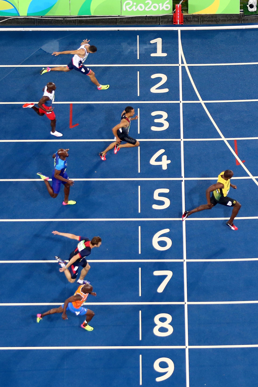 Usain Bolt sacó una ventaja descomunal en la final de los 200 metros en los Juegos Olímpicos de Rio (Getty Images)