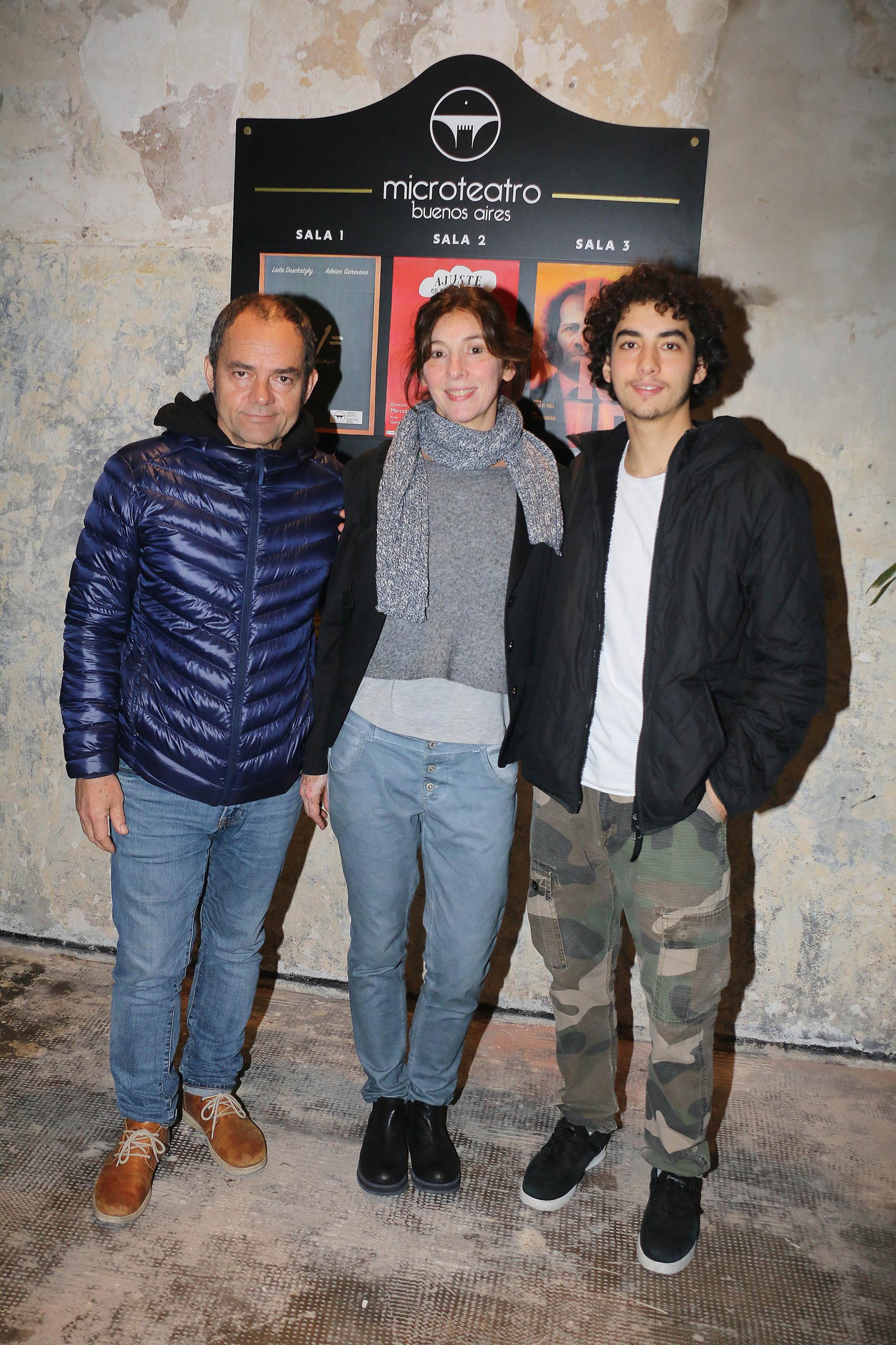 Carlos Santamarina y su familia