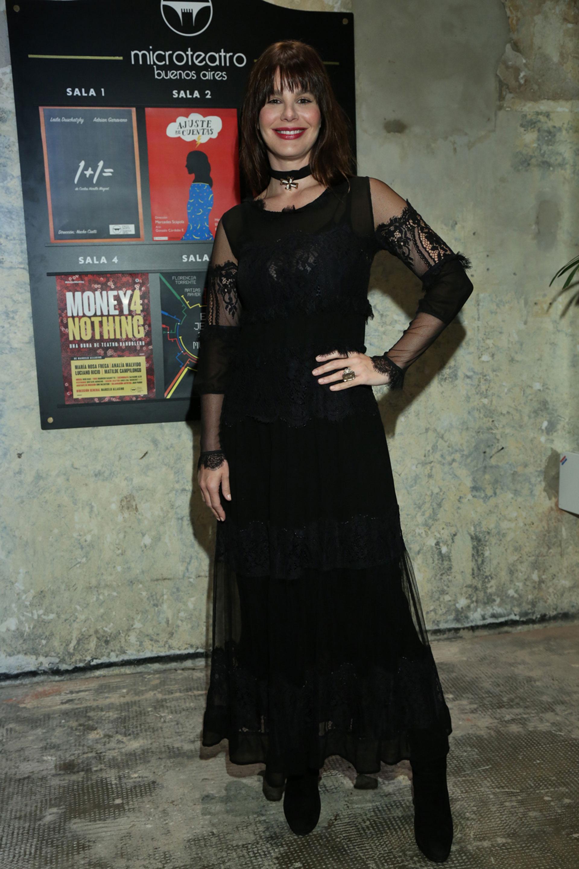 Todos los flashes se los llevó Lucila Polak, quien vino de Los Ángeles especialmente para saludar a su amiga Julieta Novarro, esta vez sin su pareja, Al Pacino