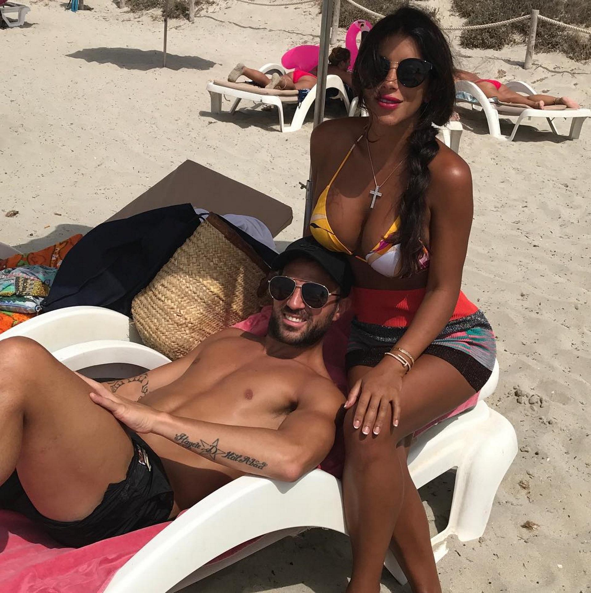 Semaan y Fábregas continuaron de vacaciones tras la despedida de Messi y Roccuzzo