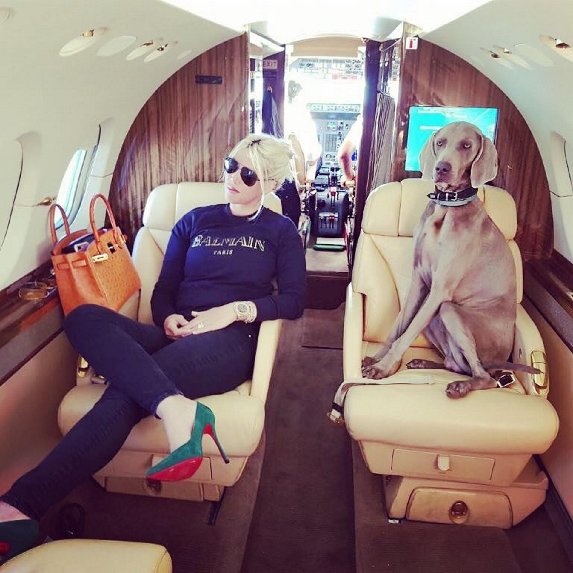 El viaje a Ibiza de Wanda Nara y su familia fue en avión privado