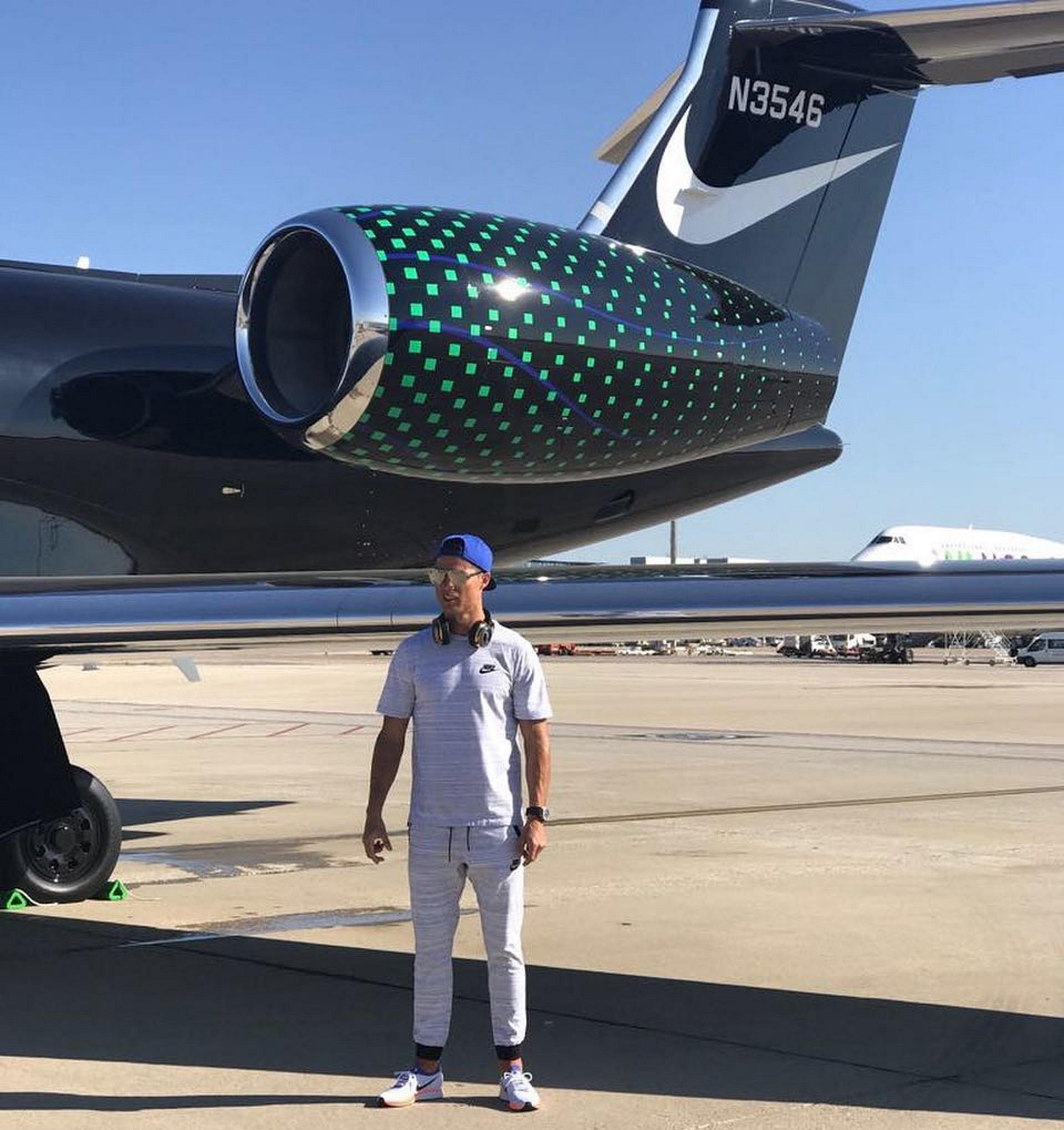 El avión que trasladó a Cristiano Ronaldo durante sus días de descanso