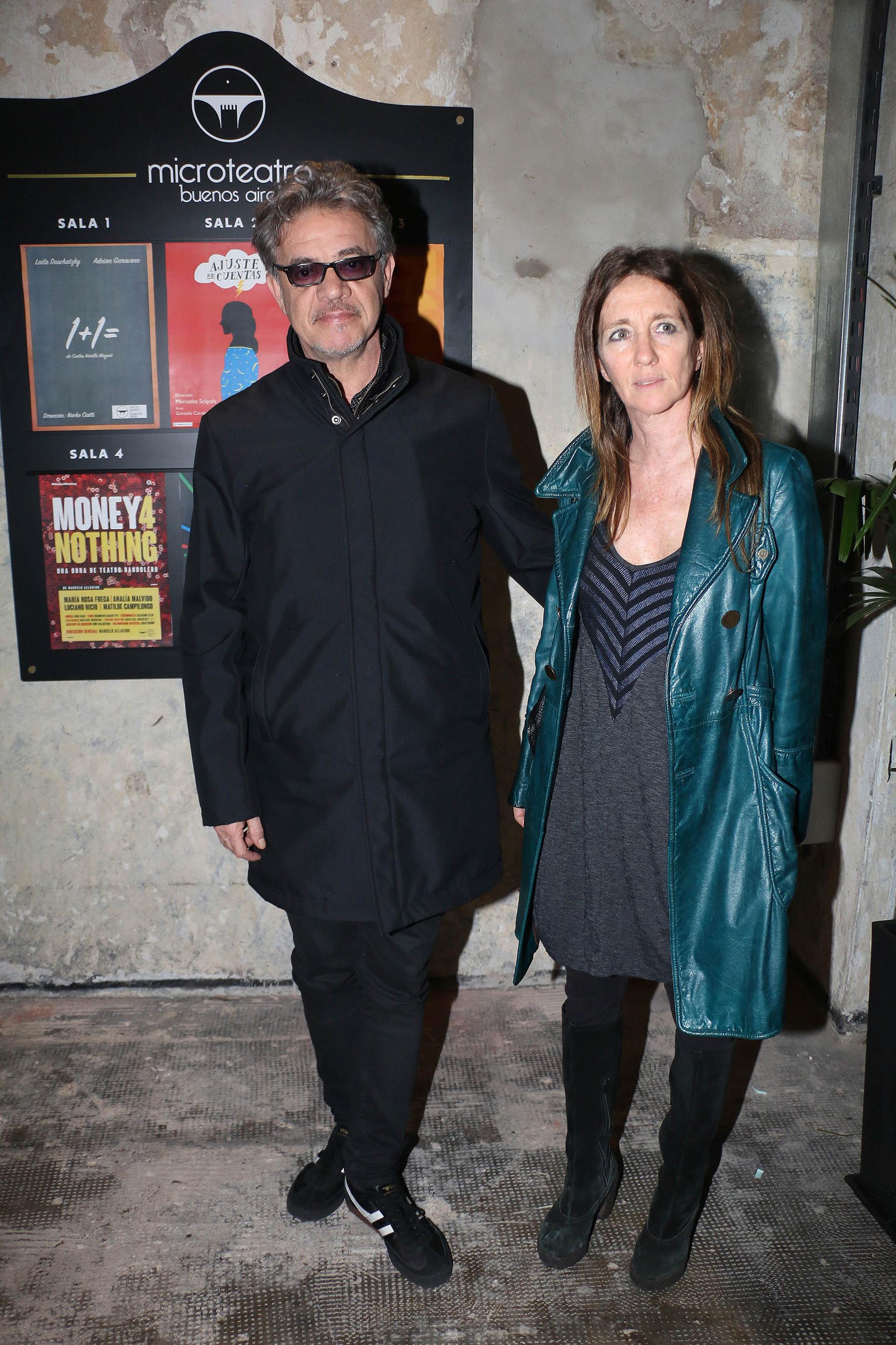 Jean Pierre Noher y Paula Luque