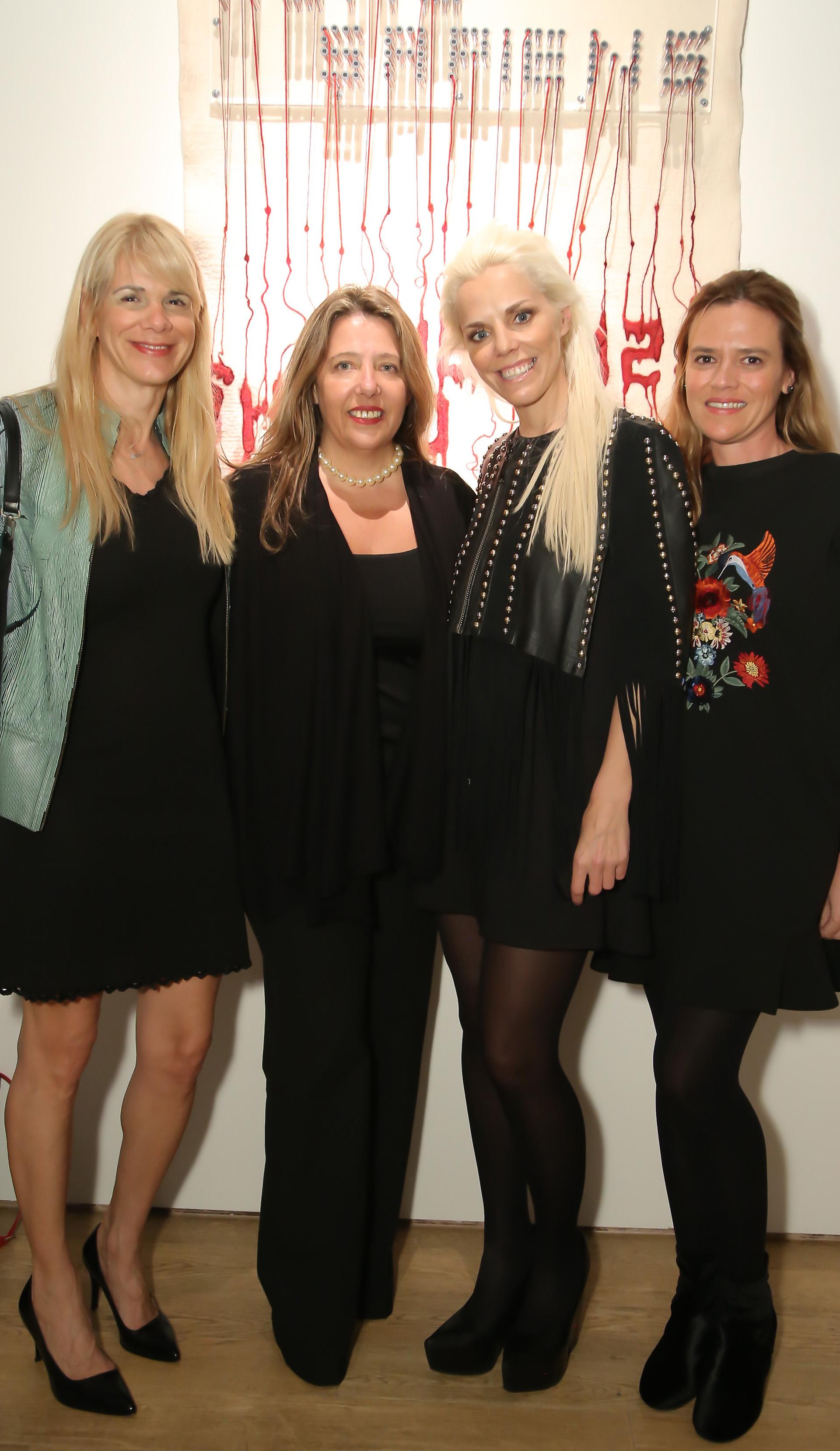 """Camila Masvidal, María Claudia Pedrayes, Agustina Rossi y Franca Zunino. En esta oportunidad, la Fundación Rossi convocó a 15 artistas con un objetivo: la generación deobras de arte sinérgicas, usando """"partes"""" para alcanzar un """"todo"""""""