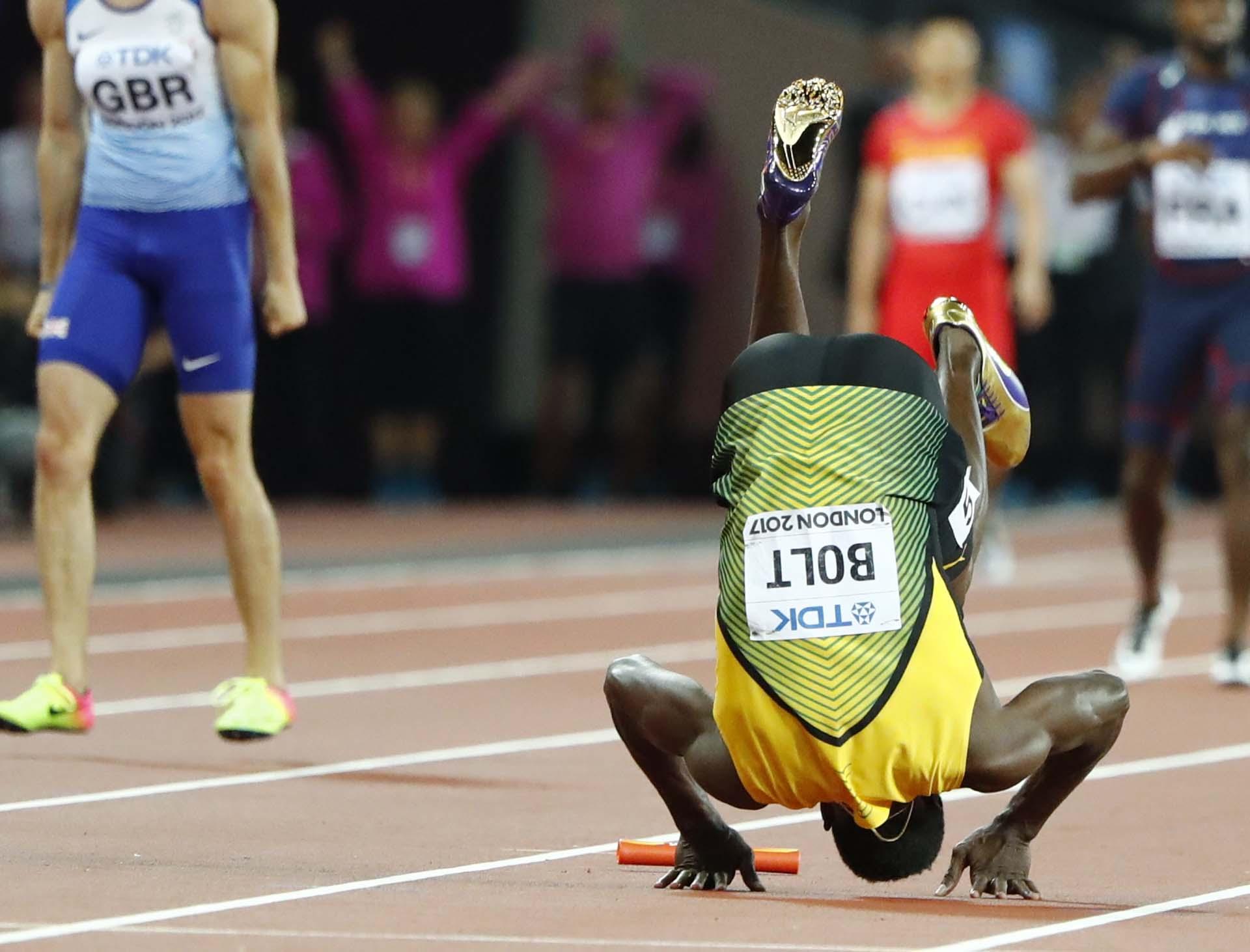 El equipo jamaiquino estuvo compuesto por Julian Forte, Yohan Blake y Omar McLeod