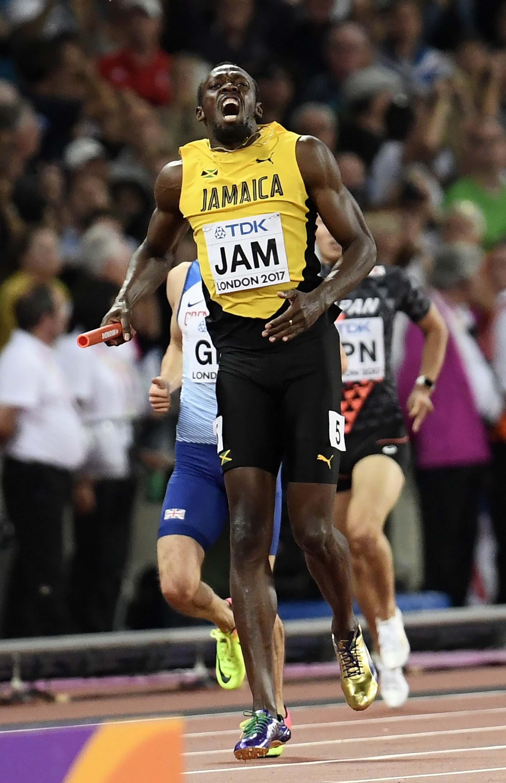 El jamaiquino corría la última posta para su equipo