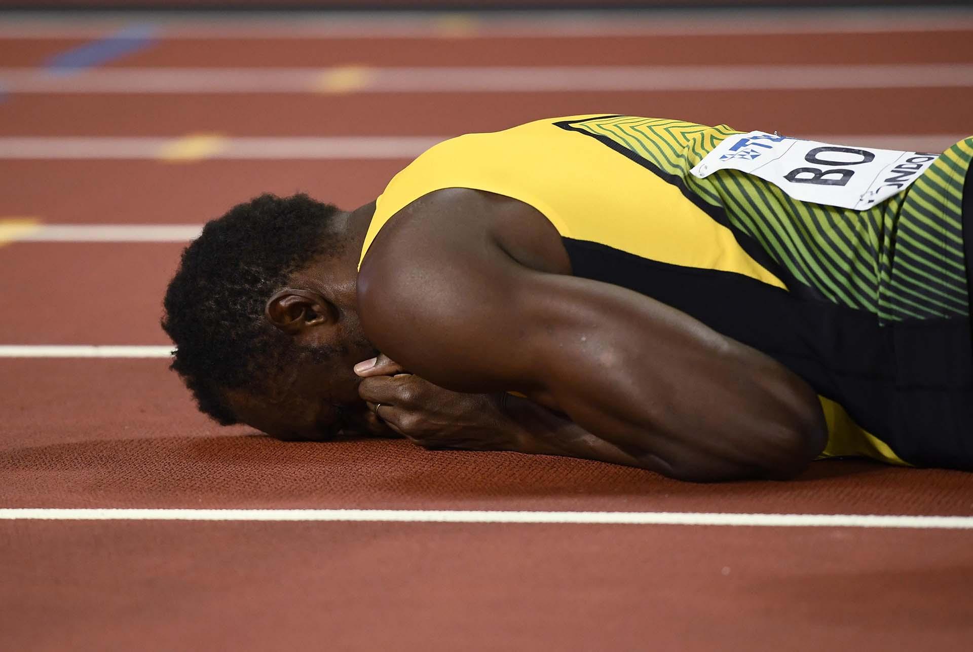 Bolt fue medalla de oro con el equipo 4×100 en los Mundiales de Berlin, Daegu, Moscú y Pekin