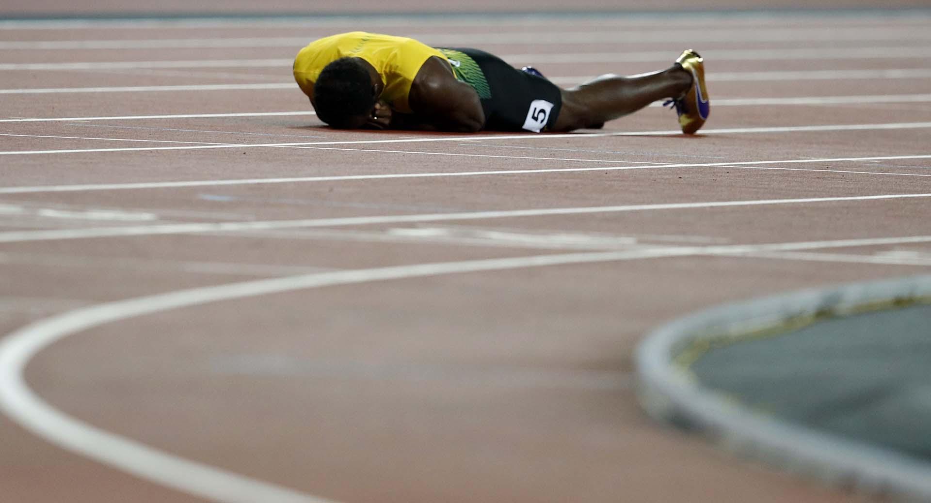 La desoladora imagen de Bolt el día que le dijo adiós al atletismo