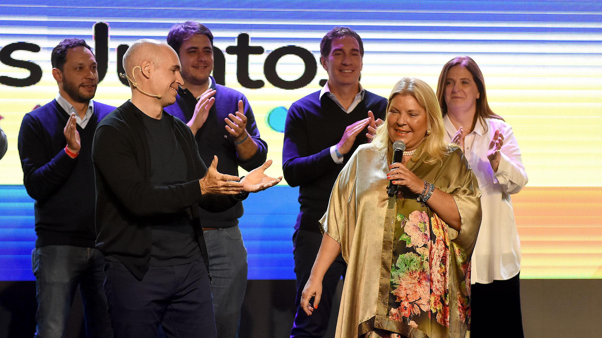 Elisa 'Lilita' Carrió fue una de las grandes ganadoras del día, ya que con el 48% de los votos hizo que Cambiemos arrase en la Ciudad