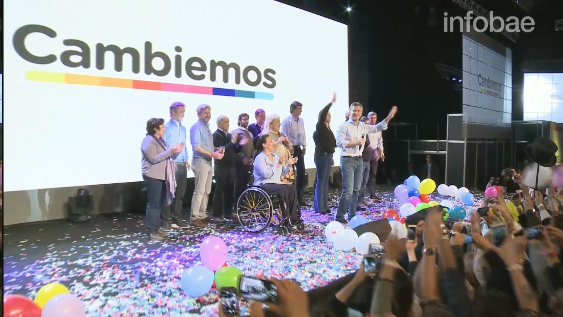 Mauricio Macri celebró el triunfo de Cambiemos