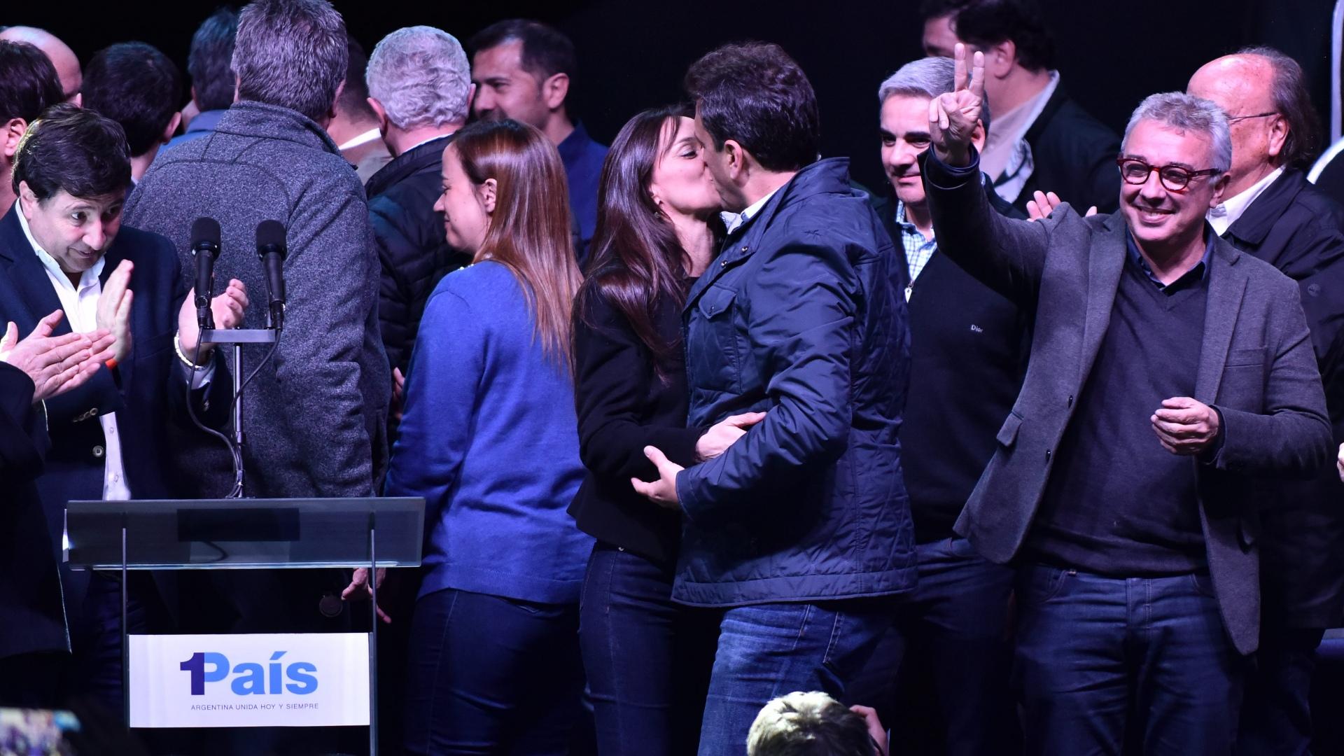 Sergio Massa junto a su esposa Malena Galmarini