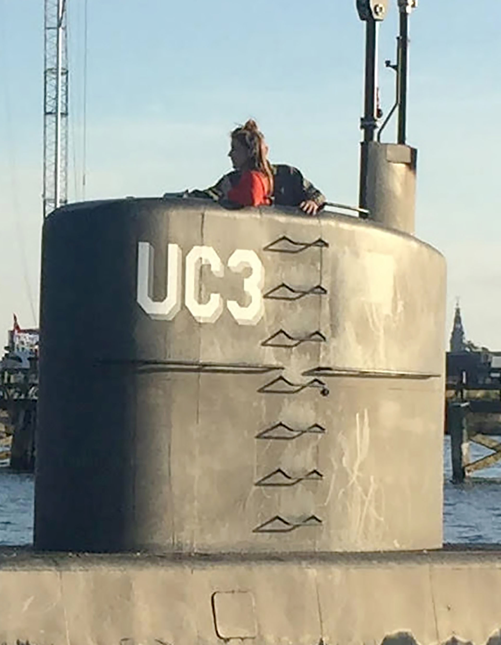 La foto de la periodista Kim Wall el 10 de agosto en el submarino de Peter Madsen (AFP/Scanpix Denmark/Anders Valdsted)