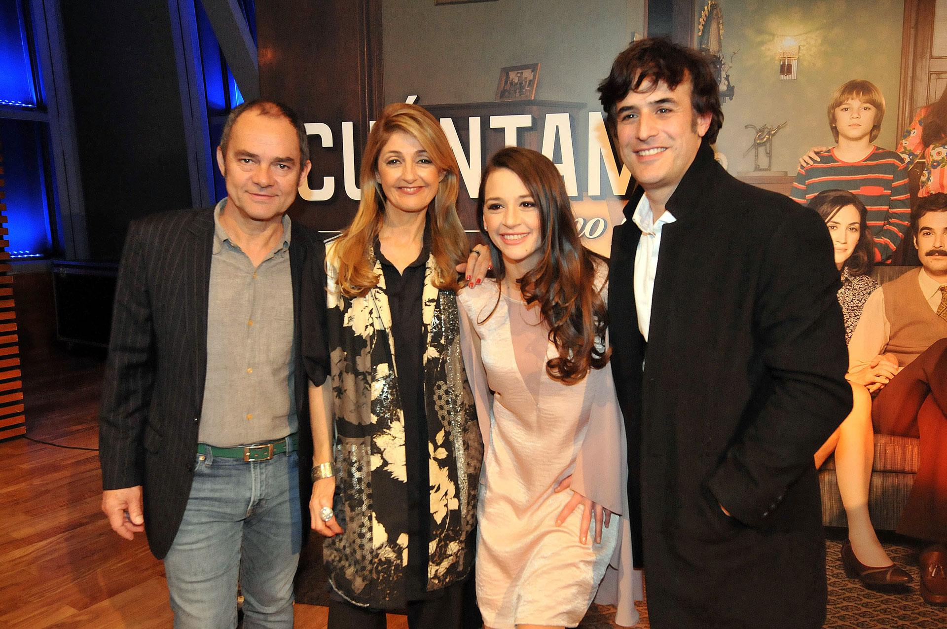 Carlos Santamaría, Carola Reyna, Laura Azcurra y Esteban Meloni