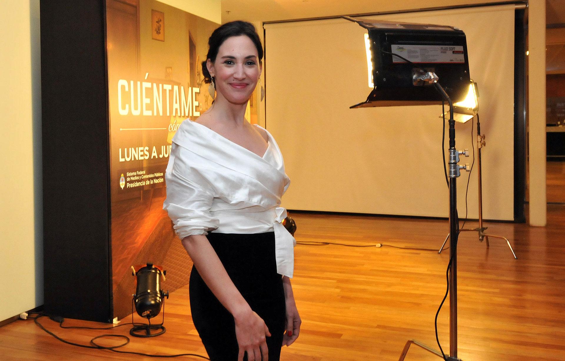 Malena Solda, otra de las protagonistas de la tira producida por la TV Pública