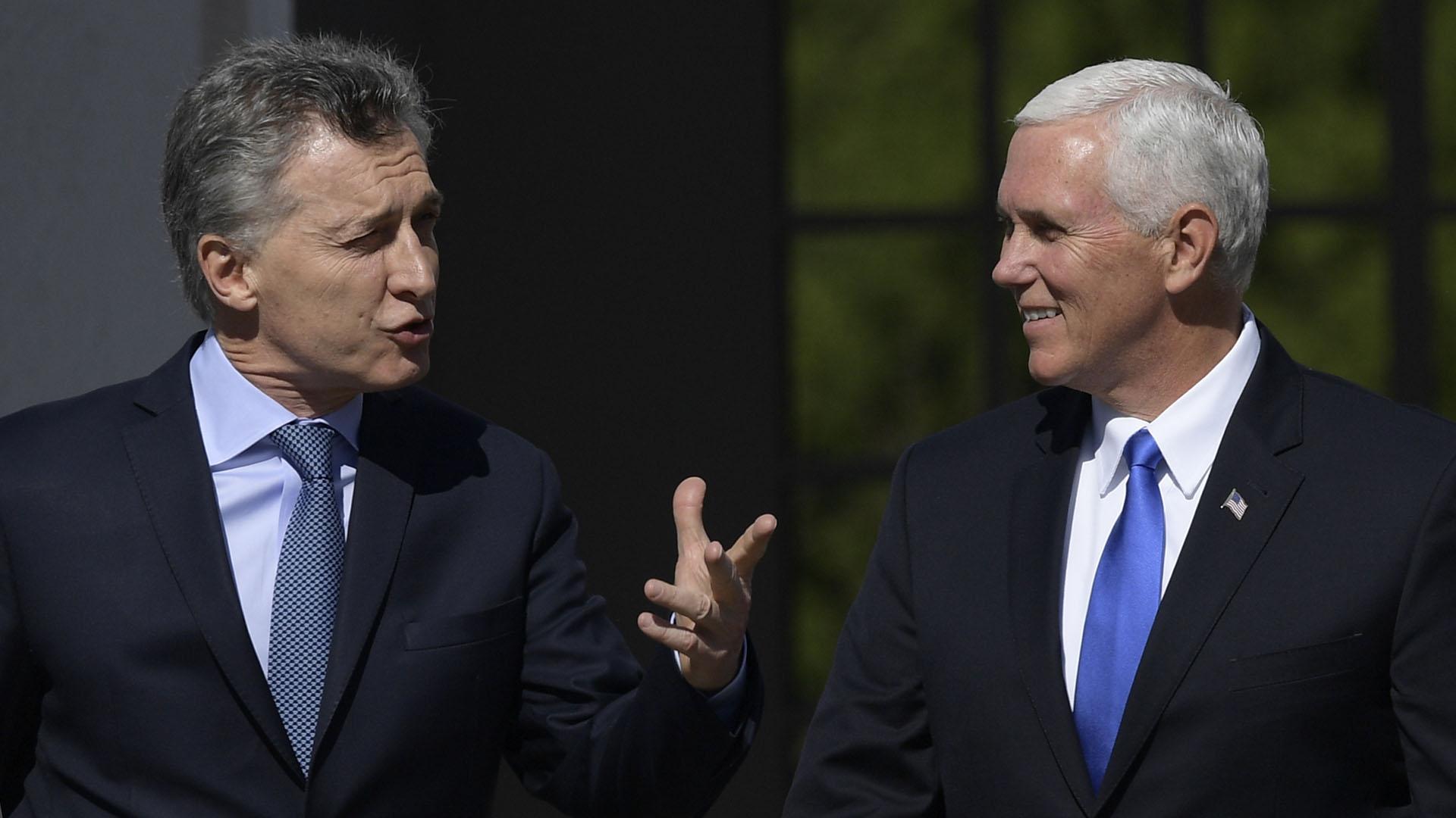 Macri junto a Mike Pince, durante su visita a la Argentina el año pasado