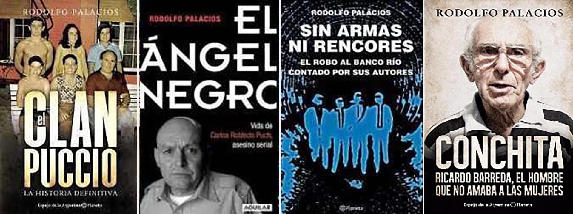 Los libros de Rodolfo Palacios.