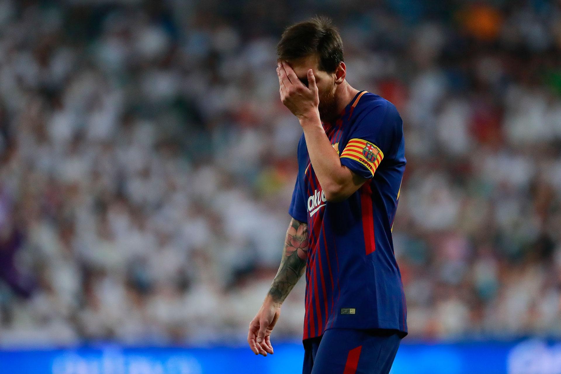 El gesto de Lionel Messi lo dice todo