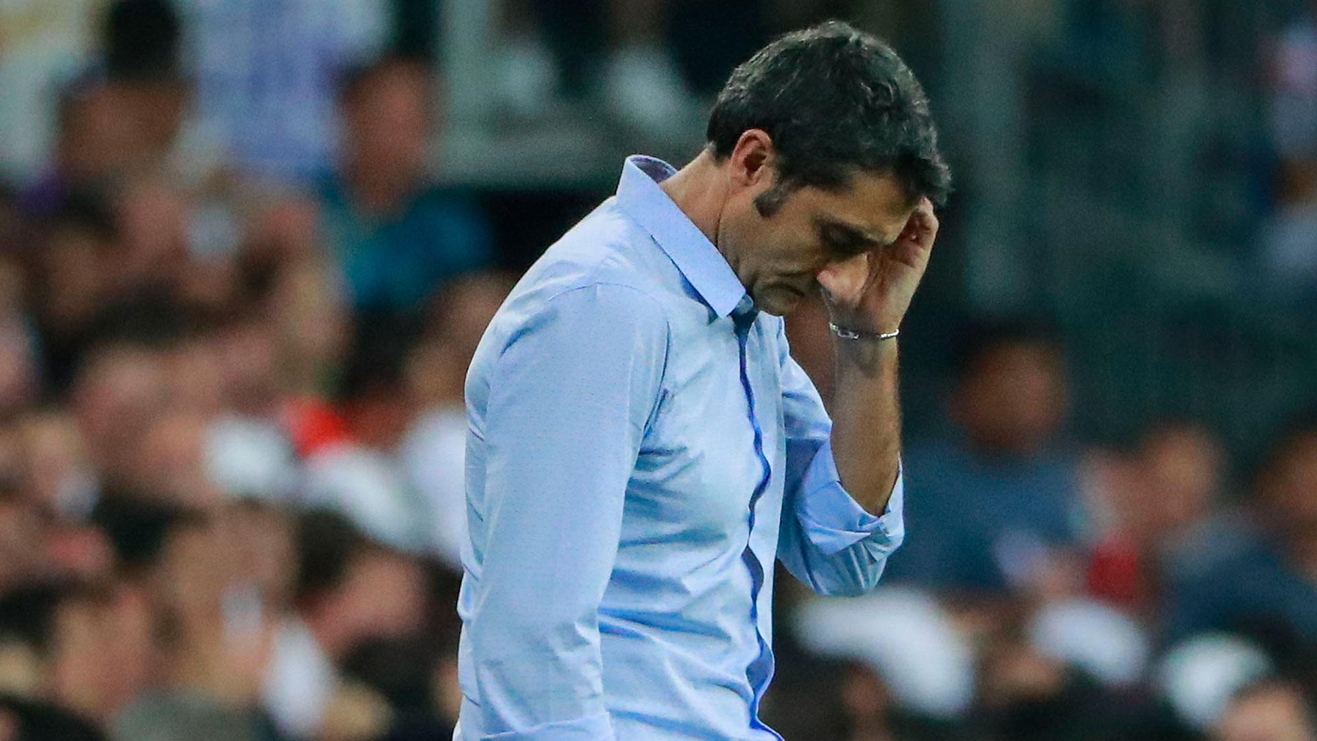 Ernesto Valverde se fue preocupado por la actuación de su equipo