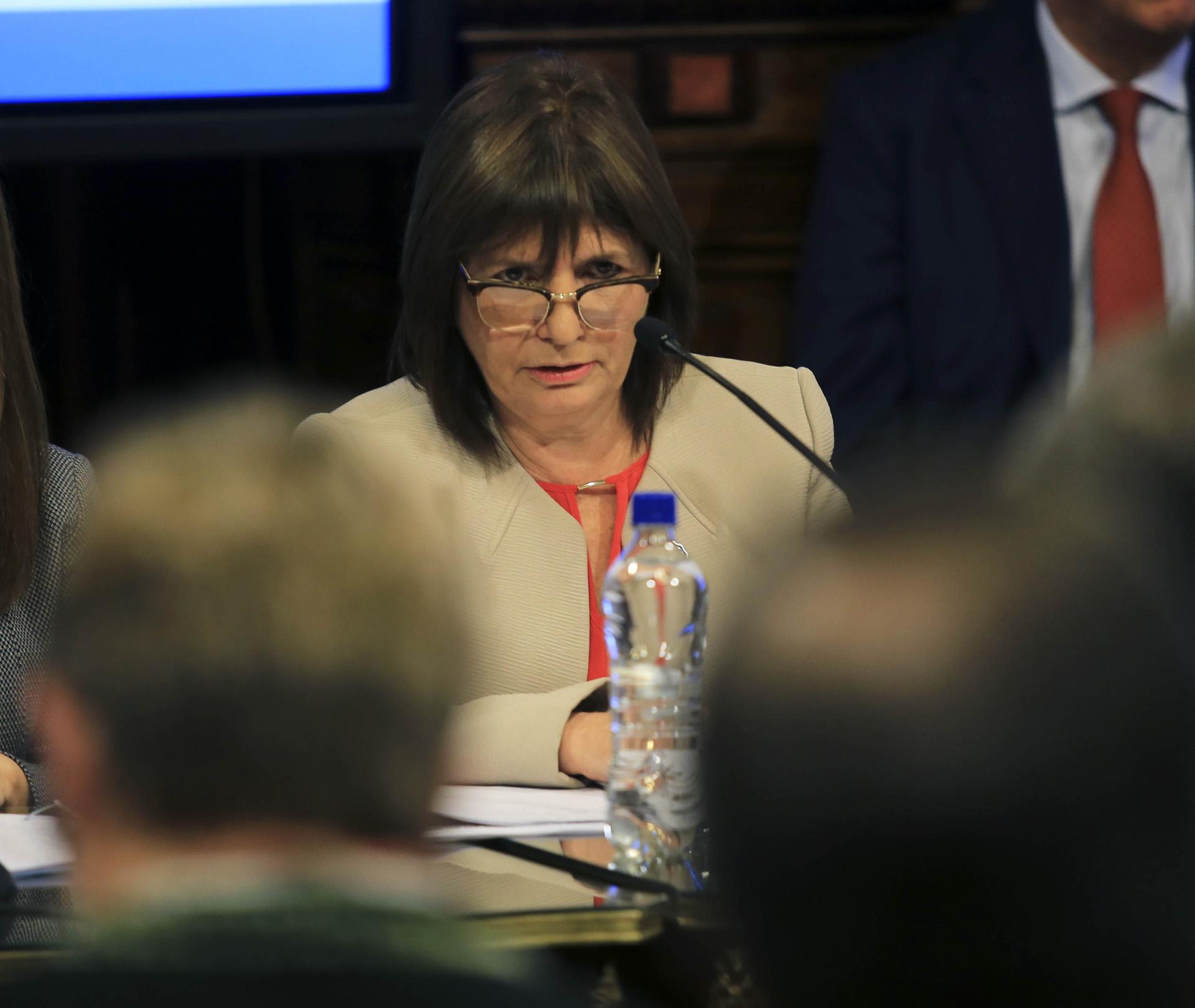 La Comisión de Seguridad Interior y Narcotráfico del Senado, escucha a la ministra de Seguridad de la Nación, Patricia Bullrich, quien da explicaciones por el caso de Santiago Maldonado