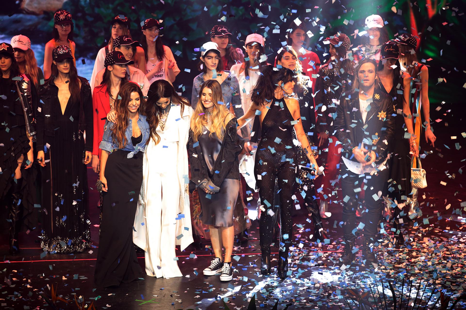 Micaela y Romina hicieron la presentación de la colección primavera-verano 2018 con un mega desfile en el cantaron Candelaria Tinelli, Oriana Sabatini y Benjamín Amadeo, entre otros (Crédito: Teleshow)