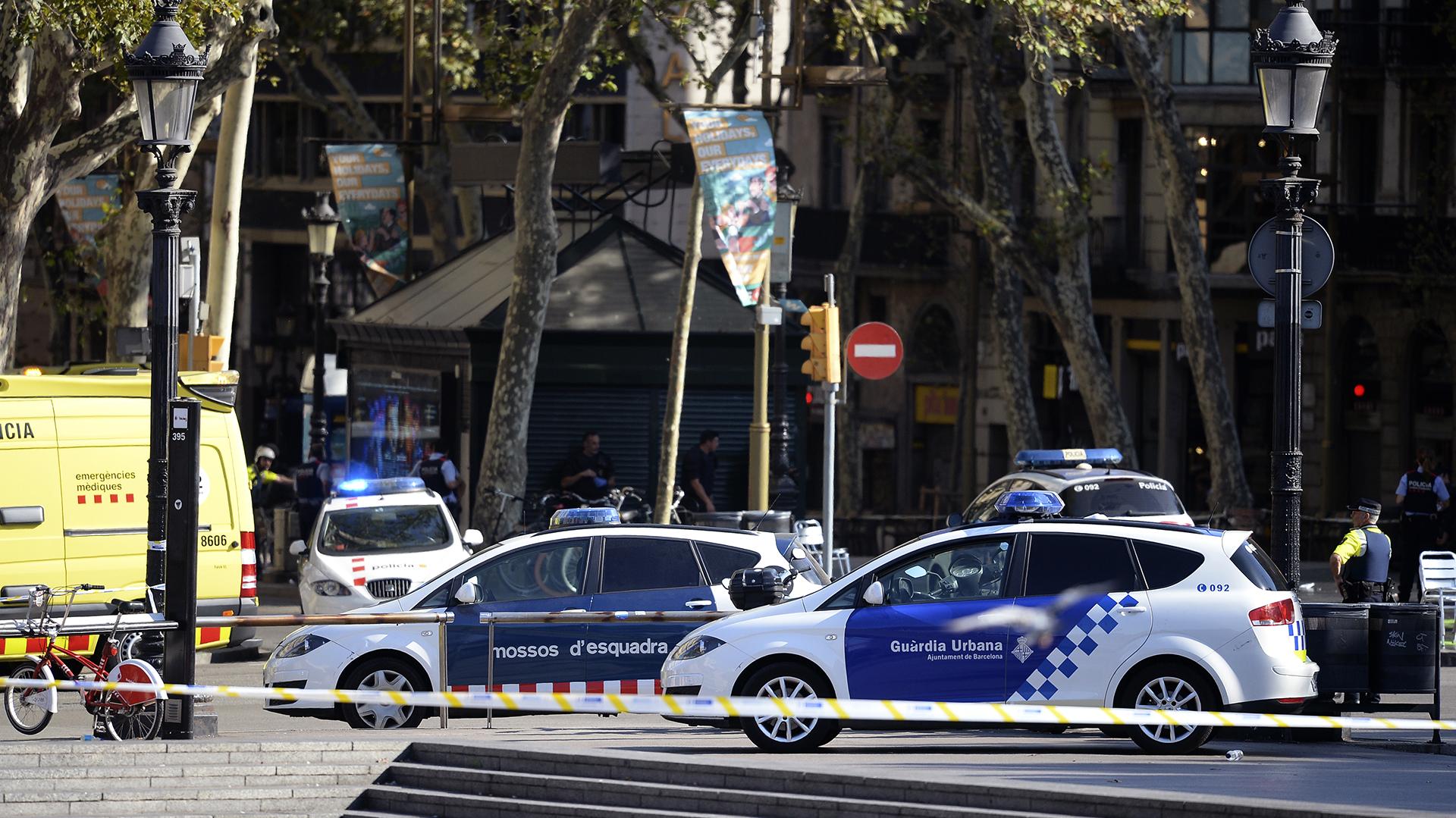 La zona está acordonada por la policía (AFP)