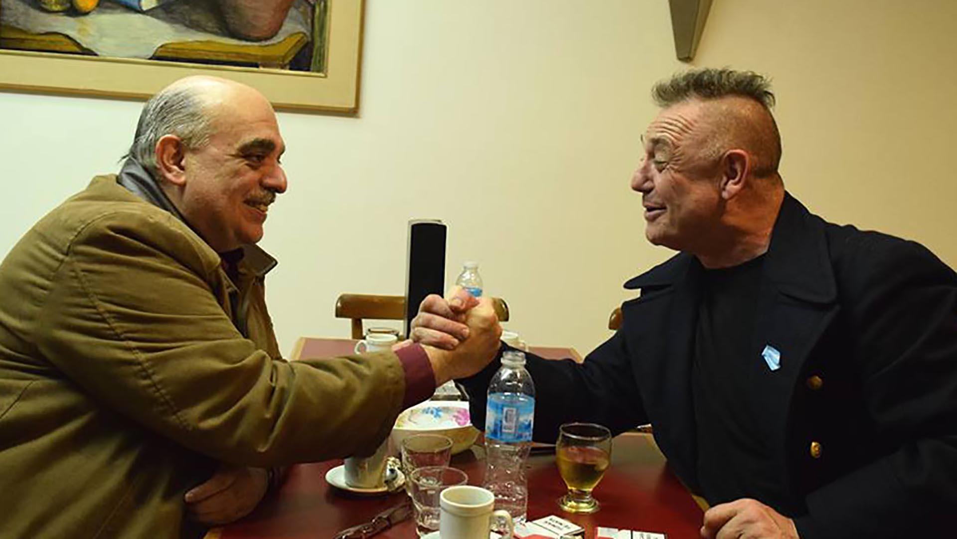 Polémico encuentro entre Ricardo Iorio y Alejandro Biondini. El músico y el dirigente ultraderechista se reunieron en Luján