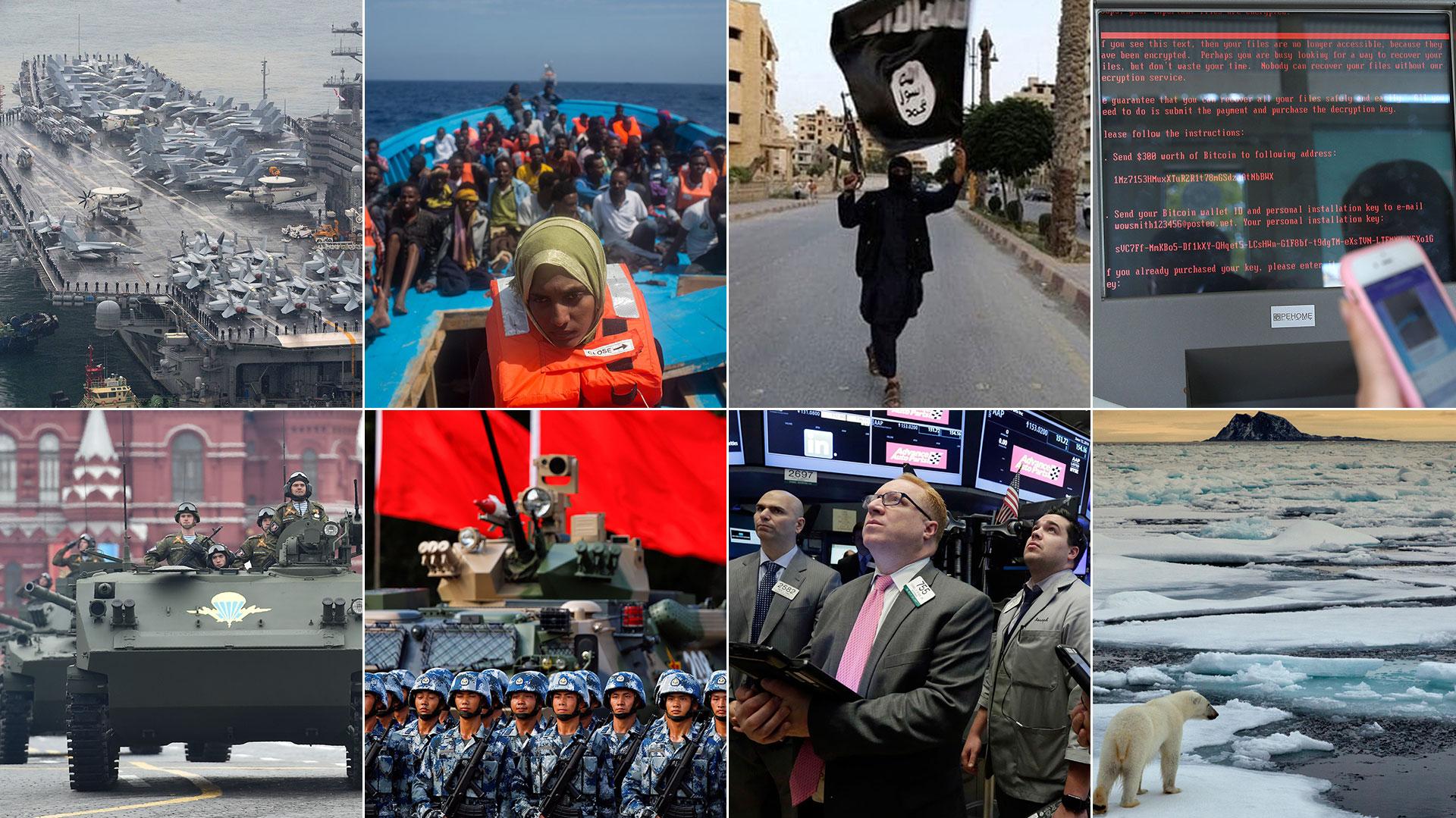 Las ocho amenazas principales a la seguridad en el mundo