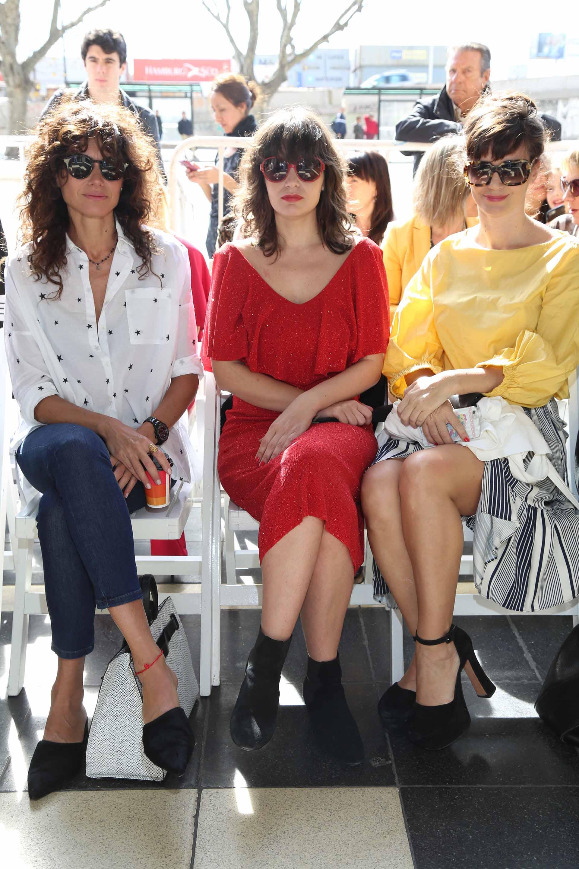 Front roe de lujo: Florencia Raggi, Romina Ricci y Griselda Siciliani