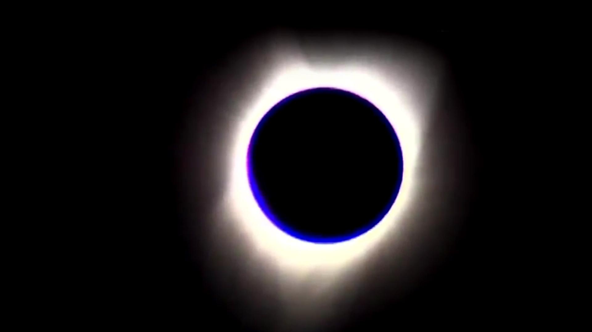 El eclipse solar completo, en Oregón, Estados Unidos