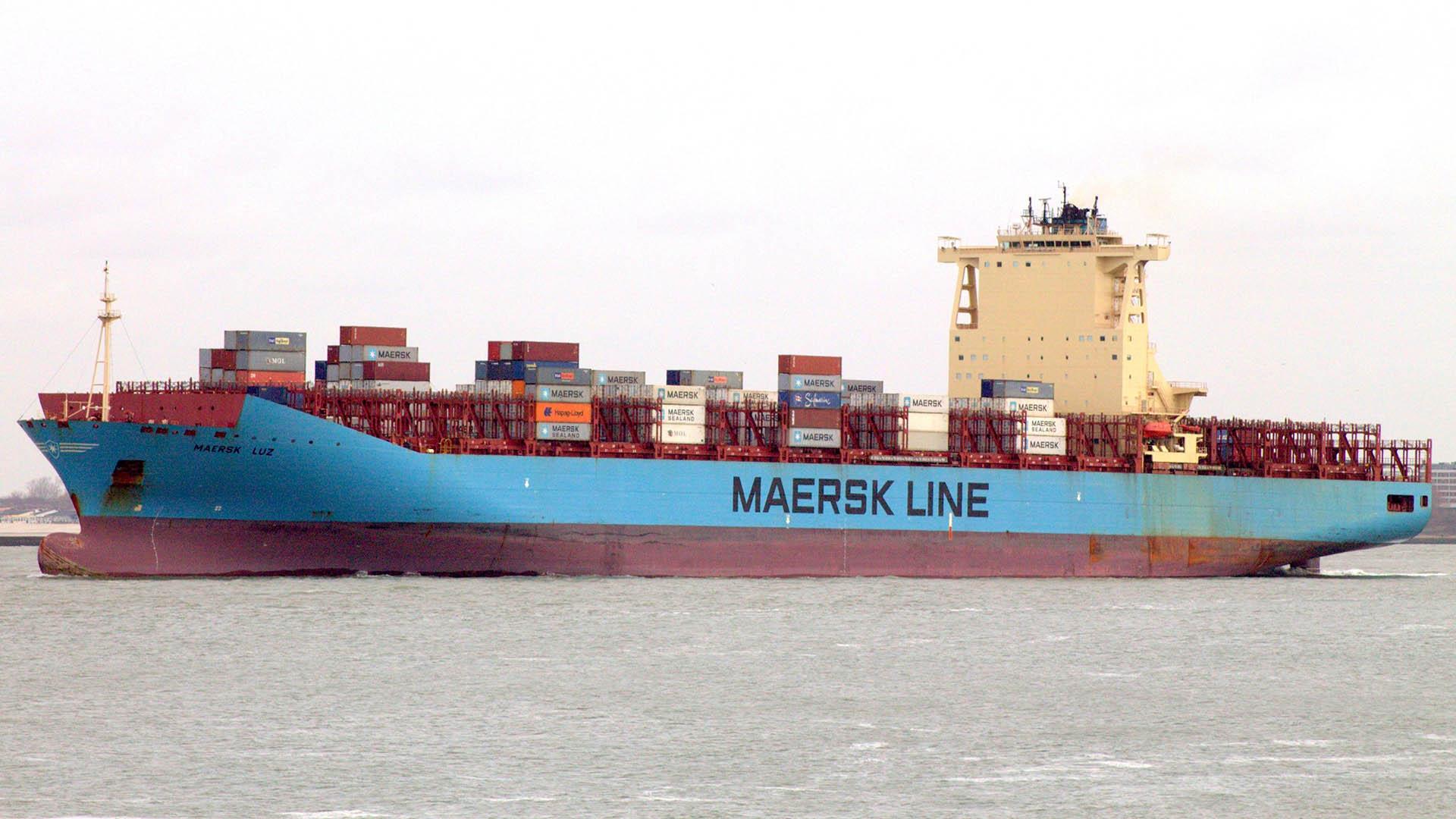 El buque Maersk Luz, la escena del doble crimen.