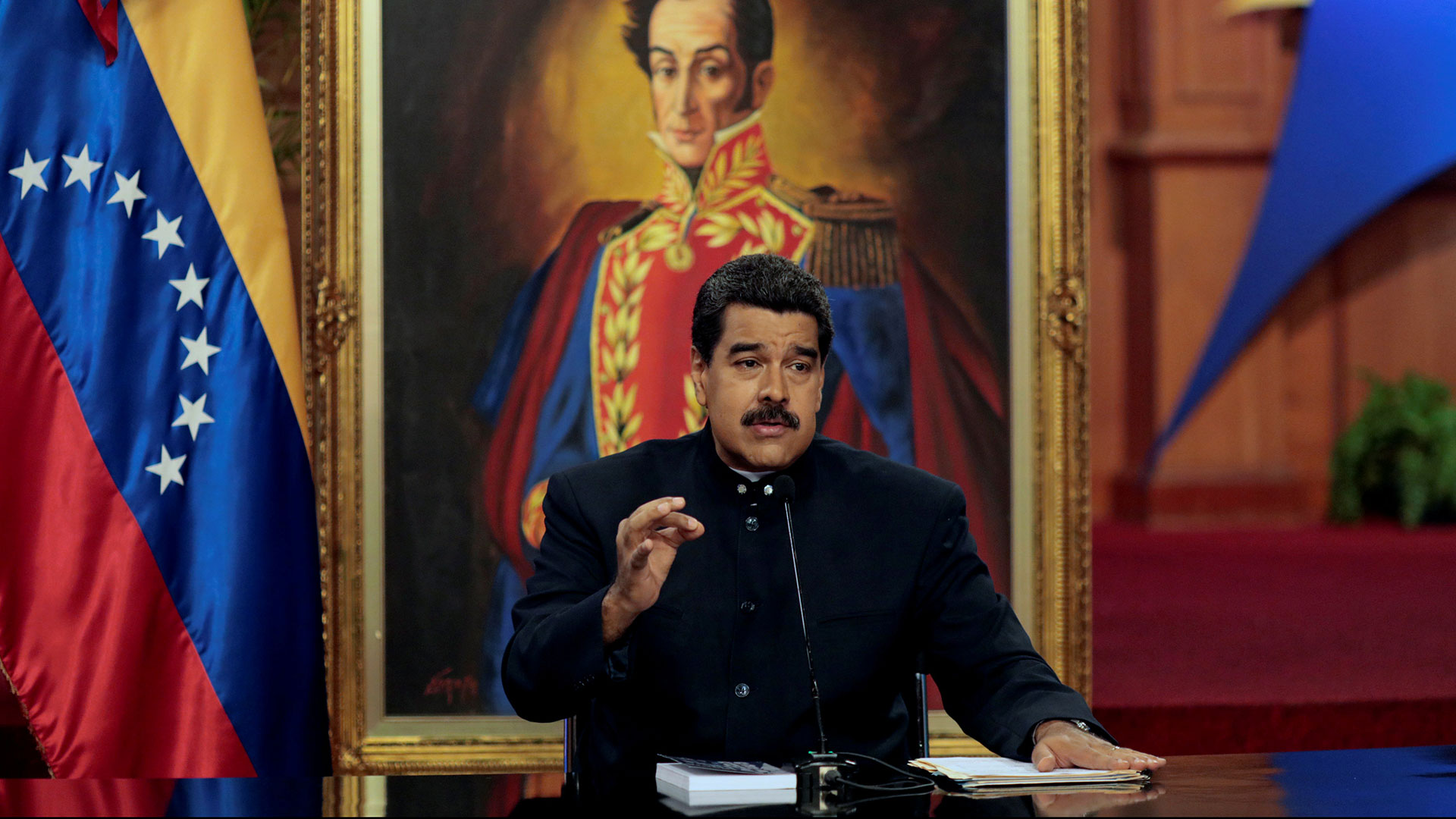 Nicolás Maduro, ante la prensa internacional (Reuters)