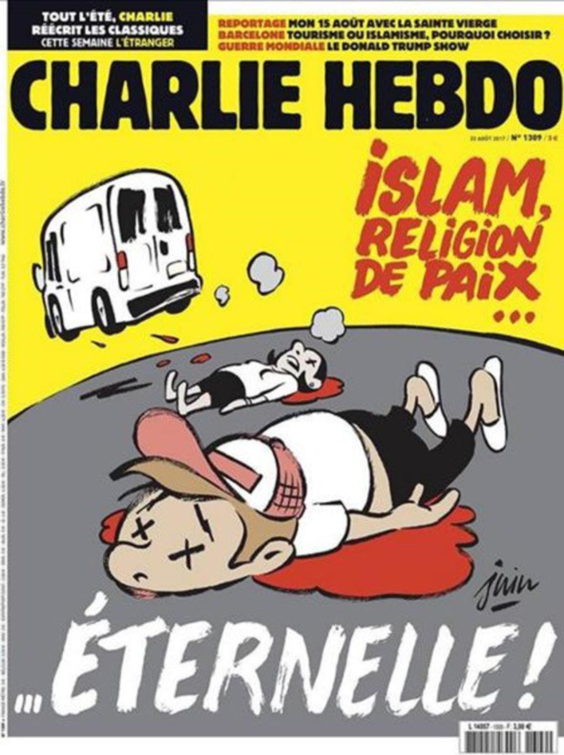 """""""Islam religión de paz… eterna"""". El más reciente número de Charlie Hebdo"""