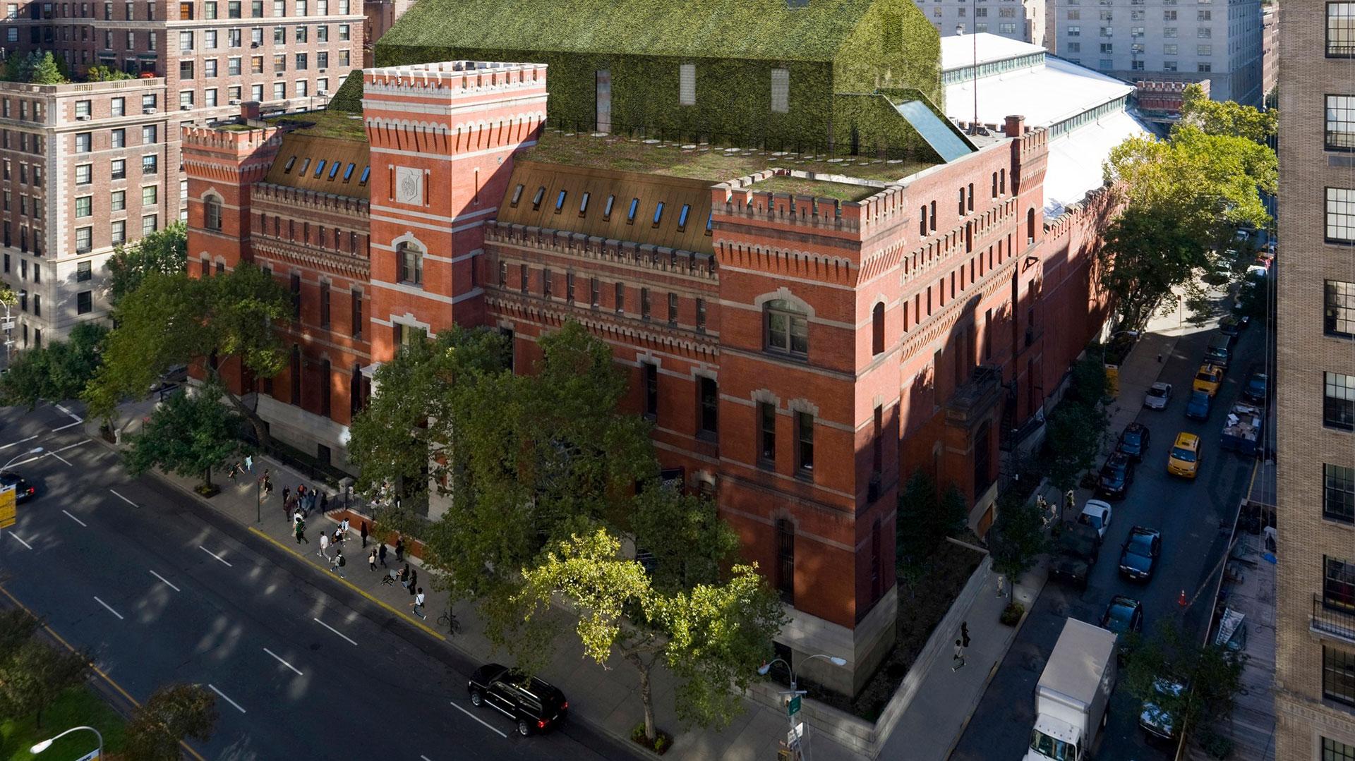 Vista aérea del Park Avenue Armory en Nueva York