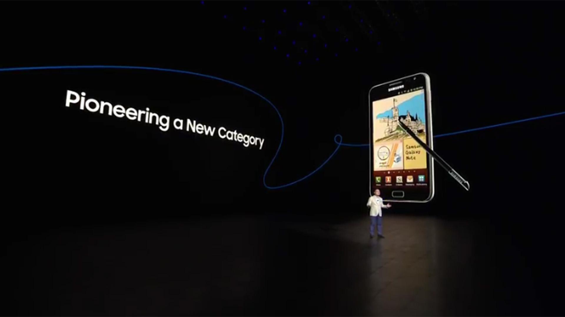 Koh Dong-jin, presidente de comunicaciones móviles de Samsung, presentó el Galaxy Note 8 en el Park Avenue Armory de Nueva York