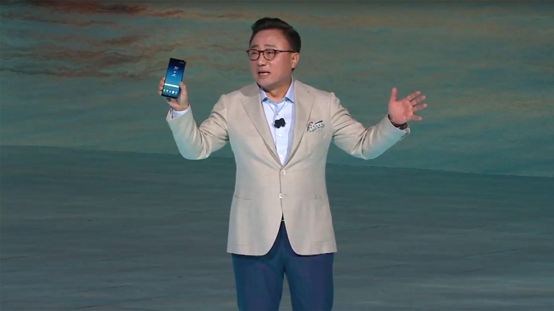 DJ Koh presenta el Galaxy Note 8 por primera vez