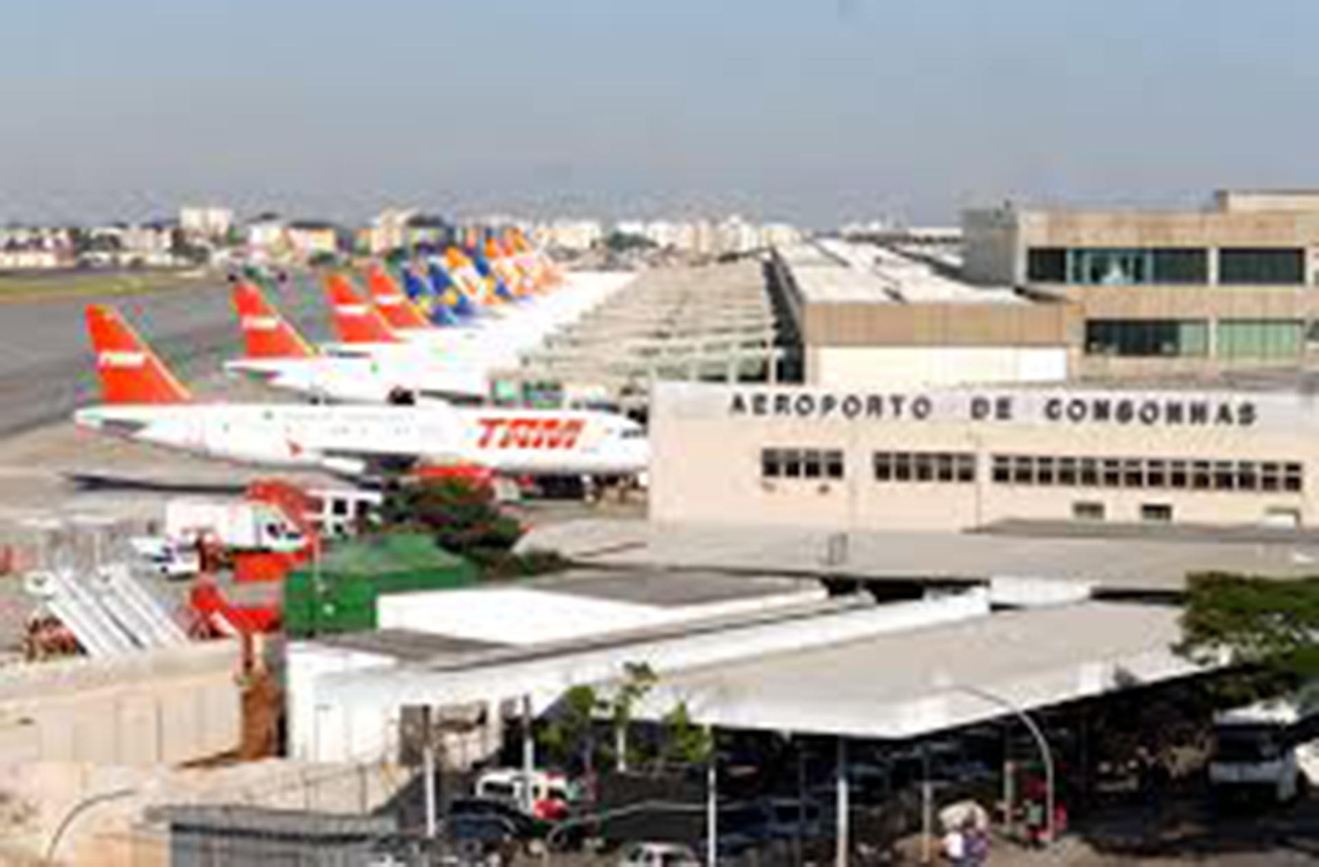 El aeropuerto de Congonhas, en San Pablo, es el segundo mayor del país en número de pasajeros