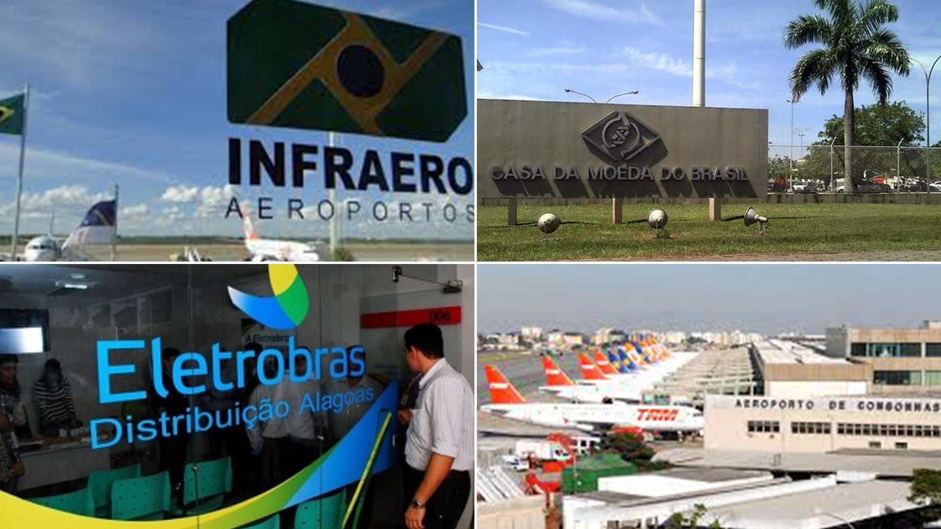 Infraero, la Casa de la Moneda, Electrobras y el Aeropuerto de Congonhas