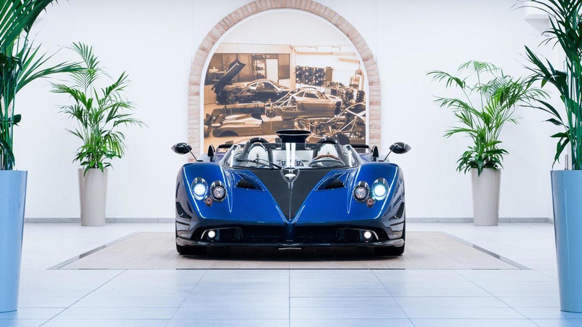El frente del Pagani Zonda HP Barchetta, el nuevo auto 0km más caro de la historia
