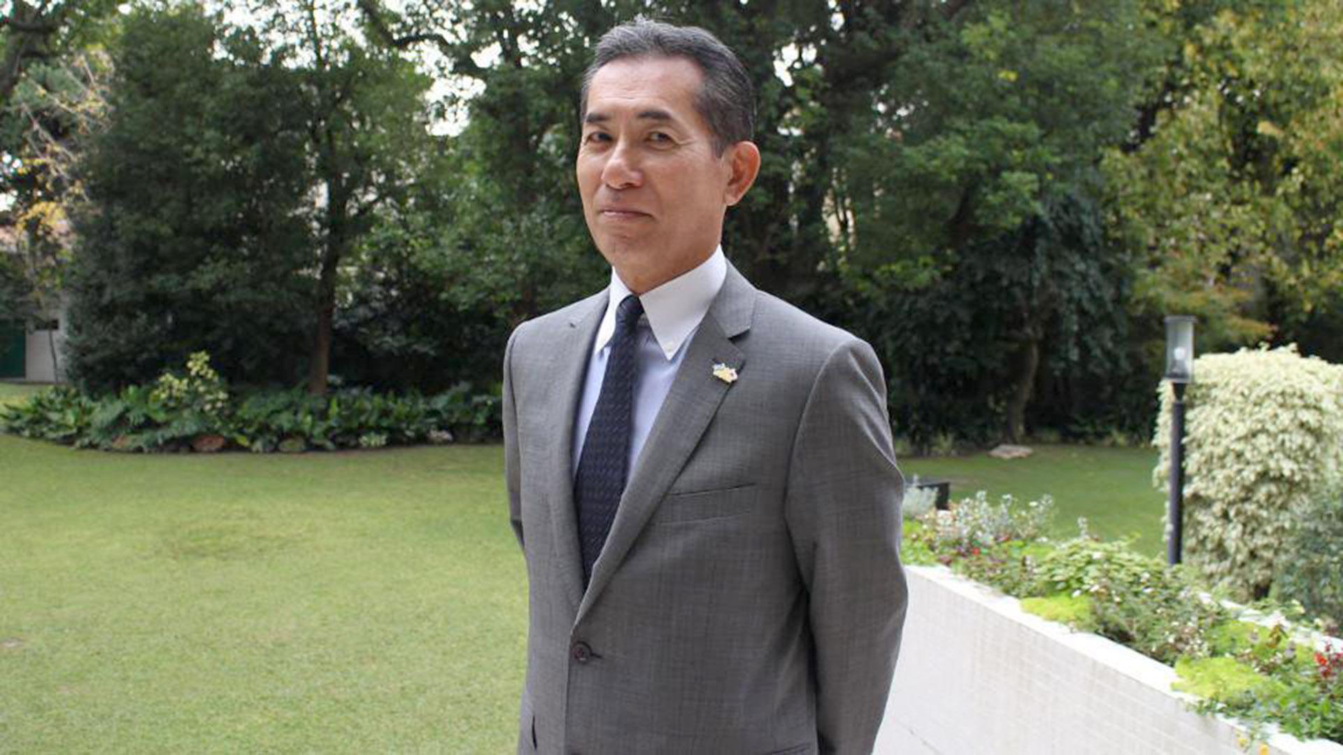 El embajador de Japón en Argentina Noriteru Fukushima