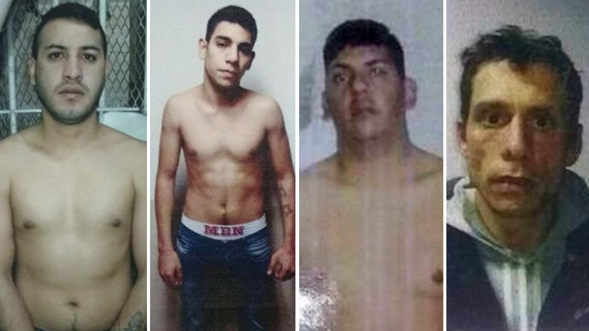 Los detenidos que se fugaron esta mañana en Villa Ballester. Ortiz, acusado de homicidio, es el segundo desde la izquierda: tiene 18 años