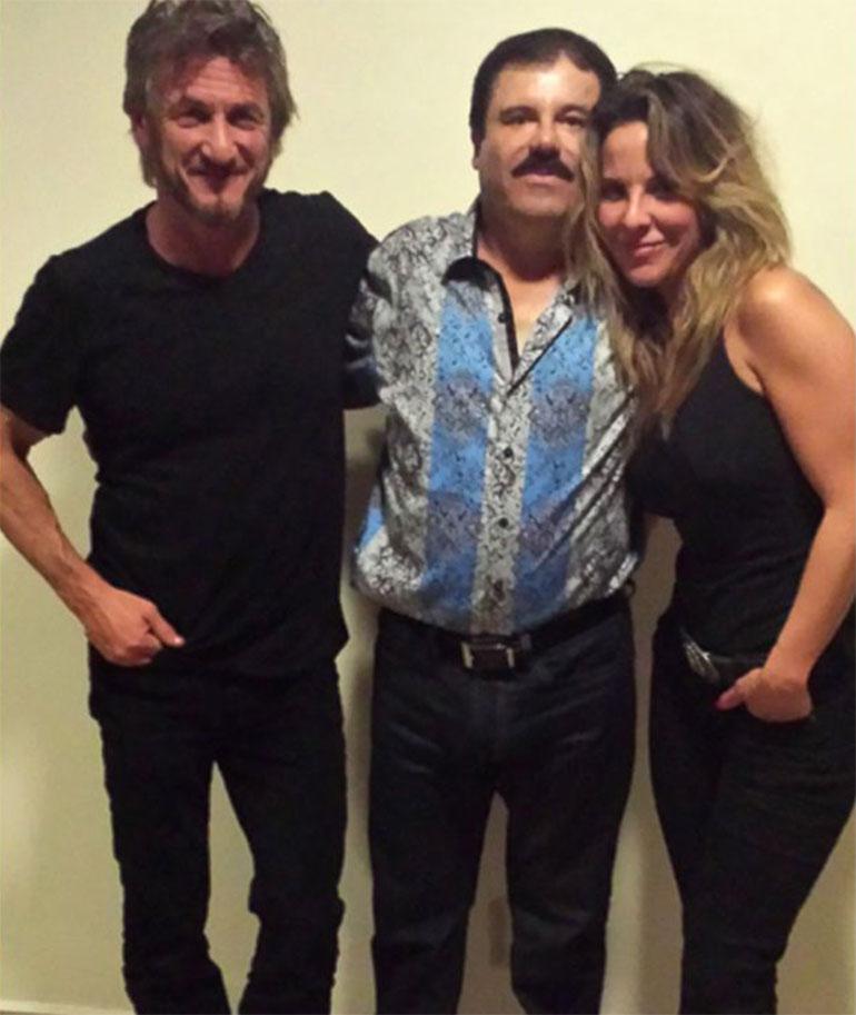Sean Penn, el Chapo Guzmán y Kate del Castillo.