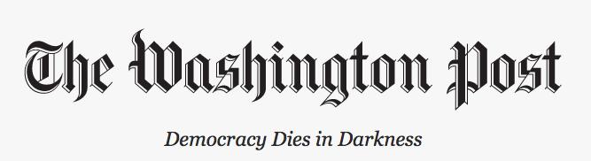 """""""La democracia muere en las tinieblas"""", eslogan de The Washington Post"""