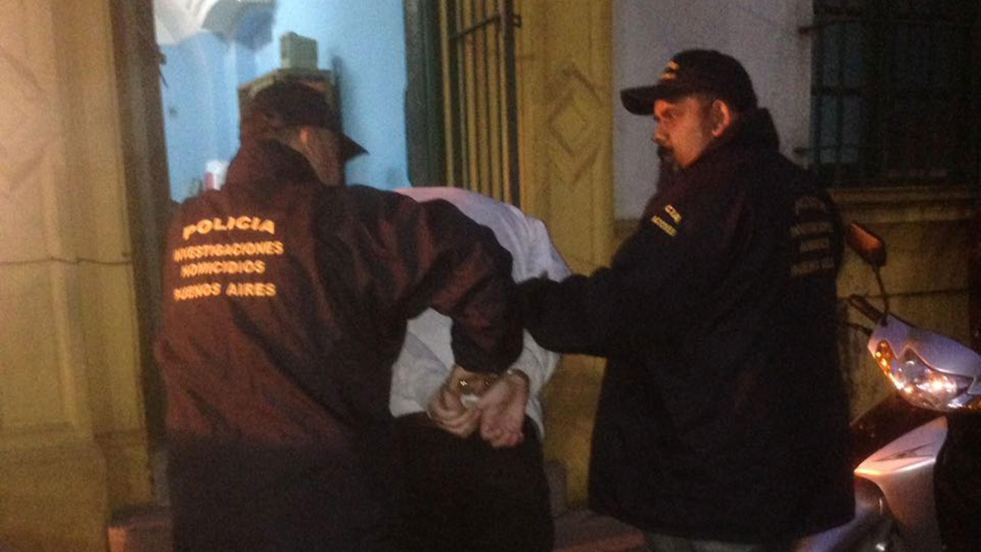 Villalba, al momento de su detención
