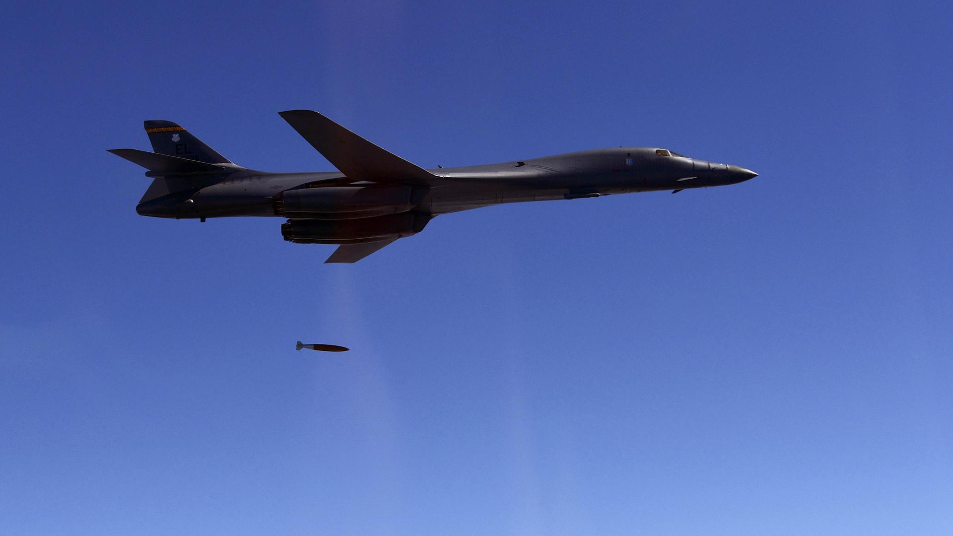 Los bombarderos nucleares B1-B Lancer volaron desde Guam para participar del ejercicio. En los últimos meses sus vuelos sobre la península coreana aumentaron las tensiones (AFP)