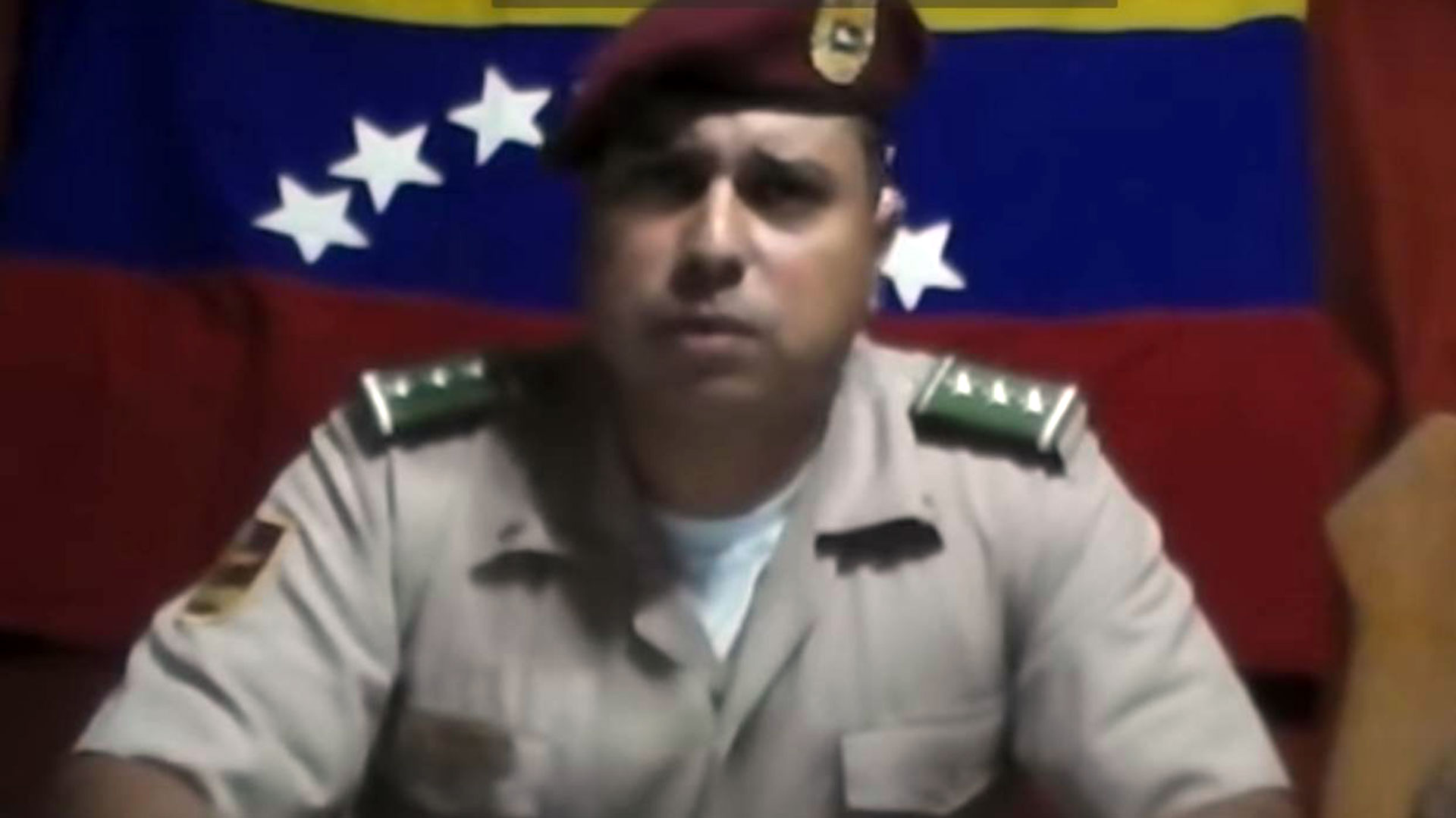 Juan Caguaripano, líder del levantamiento contra Nicolás Maduro