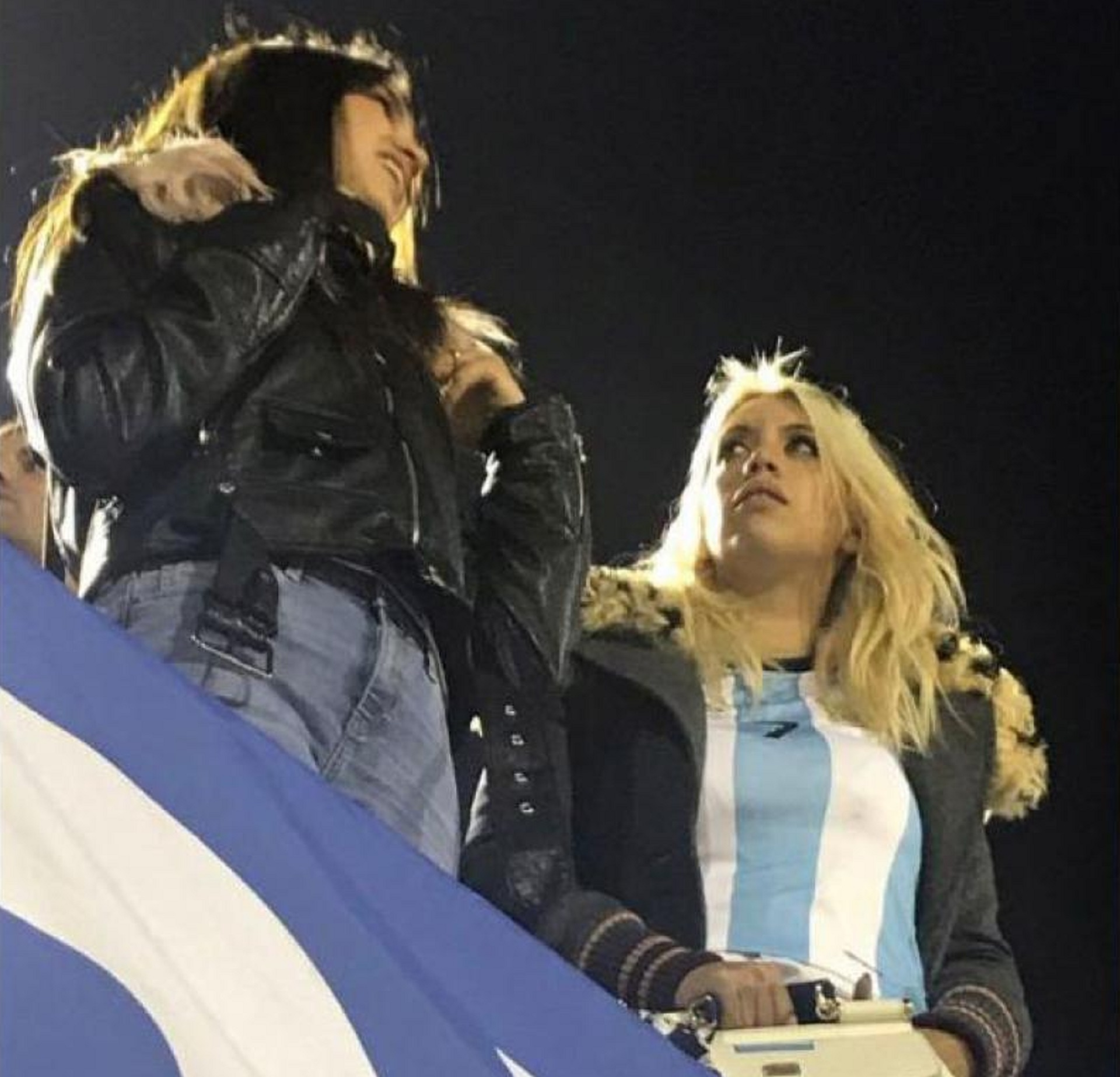 Wanda y Zaira Nara fueron a Montevideo a ver el partido de la Selección Argentina contra Uruguay, en el que jugó Mauro Icardi de titular