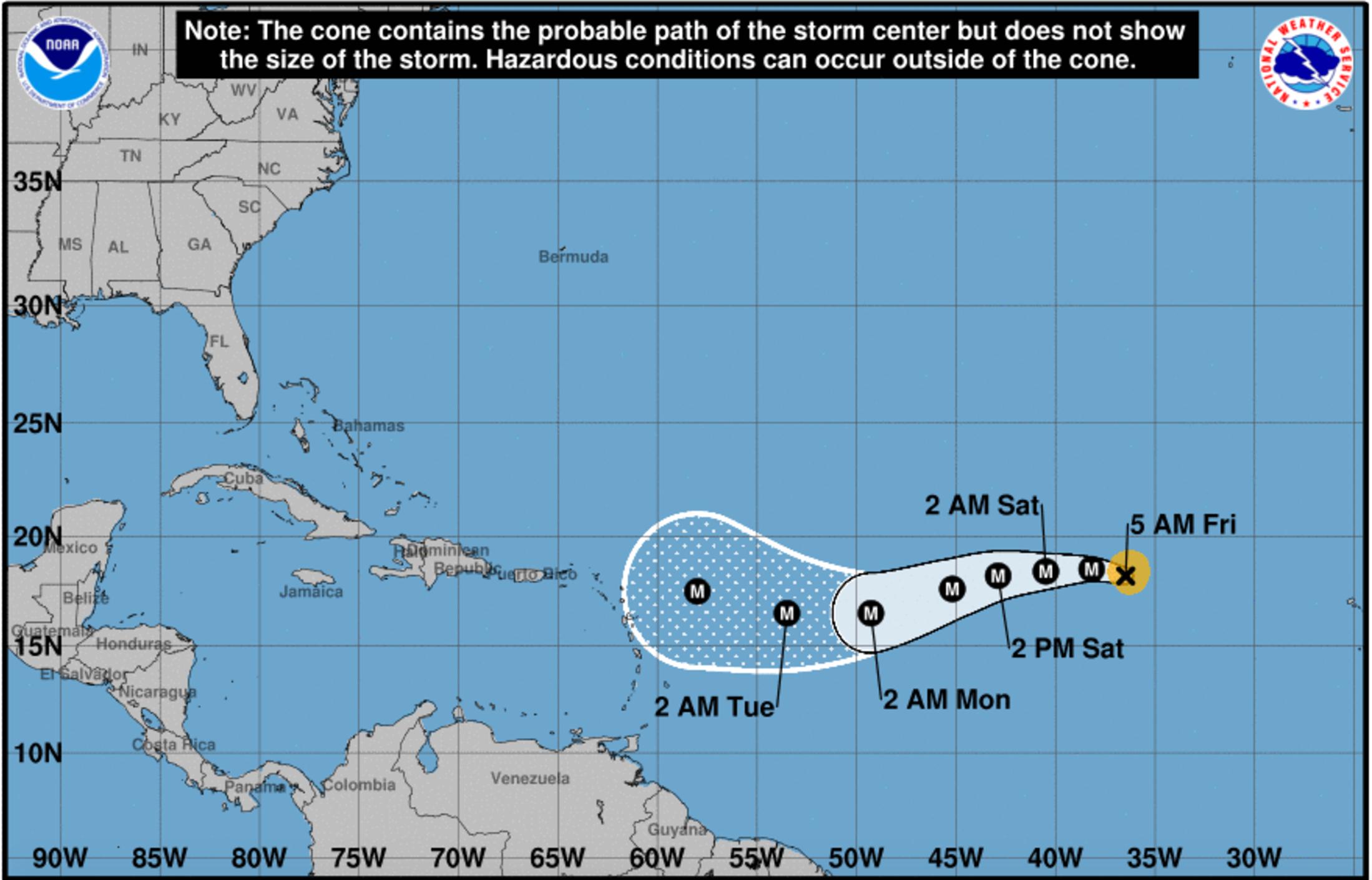 mapas: así fue la evolución y avance del huracán irma por el